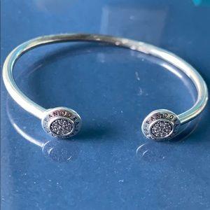 Pandora cuff bracelet silver.